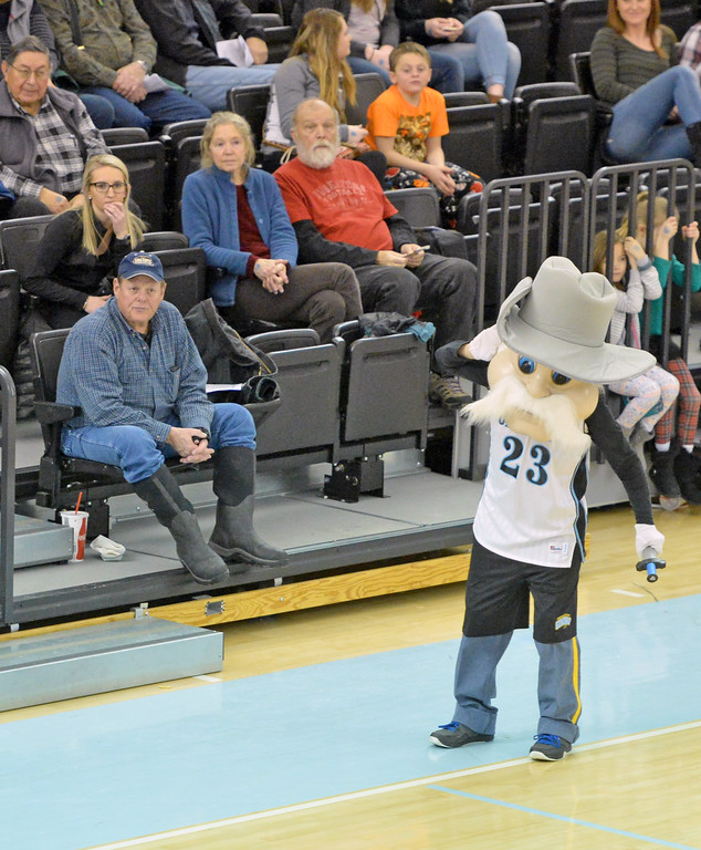 The Generals mascot hypes up the crowd during Sheridan College's contest with Casper College on Saturday, Jan. 14 at the Bruce Hoffman Golden Dome. Mike Pruden | The Sheridan Press