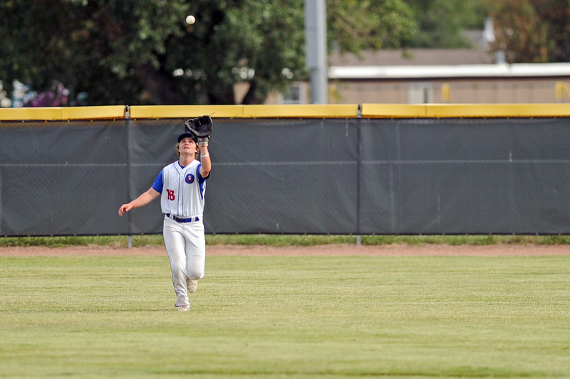 Andrew Ratty tracks a fly ball in right field during Sheridan's 8-7 win over Laurel on Wednesday, July 5 at Thorne-Rider Stadium. Mike Pruden | The Sheridan Press