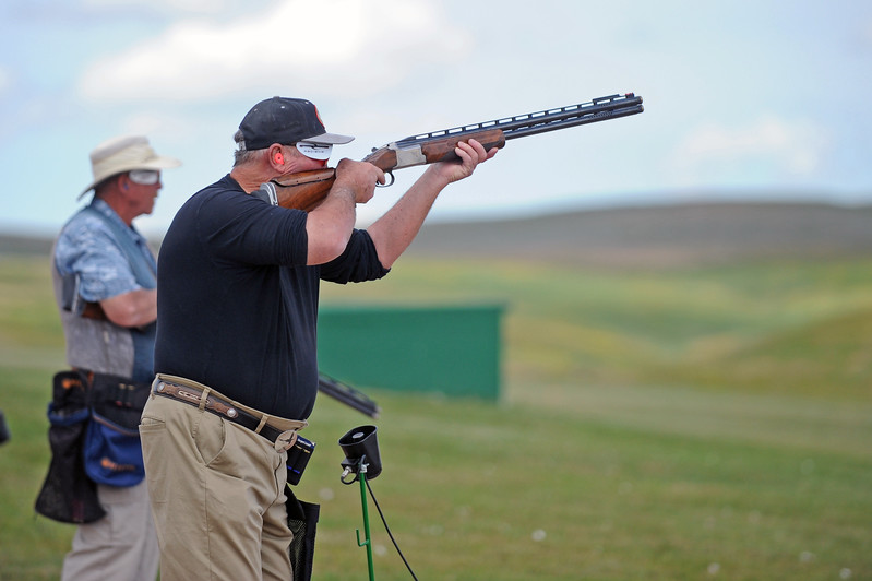 Steve Weinberger readies his shotgun during the Wyoming State Trap Shoot on Friday, June 30 at the Sheridan County Sportsman Gun Club. Mike Pruden | The Sheridan Press