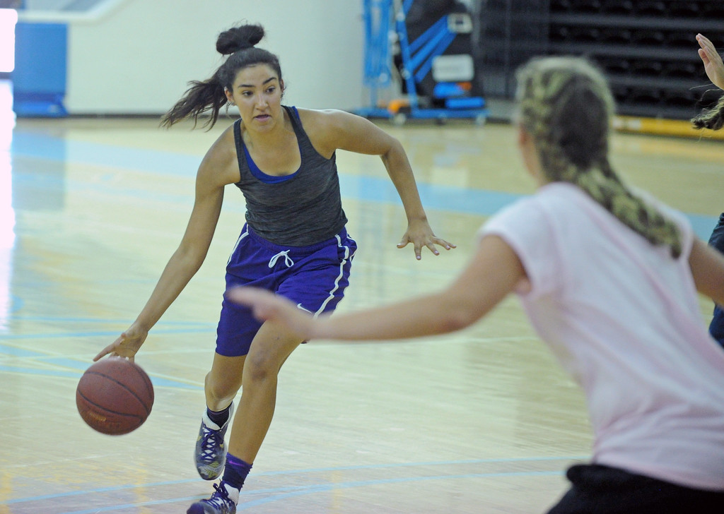 Gillette's Kalina Smith drives to the basket during the first day of practice with the Wyoming All-Stars on Wednesday, June 7 at the Bruce Hoffman Golden Dome. Mike Pruden | The Sheridan Press