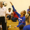 8-15-17<br /> Western vs Kokomo volleyball<br /> Kokomo's Chiara Minor hits it over the net.<br /> Kelly Lafferty Gerber | Kokomo Tribune
