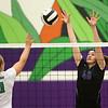 8-29-17<br /> Northwestern vs. Clinton Central volleyball<br /> Steph Burns goes up for a block.<br /> Kelly Lafferty Gerber | Kokomo Tribune