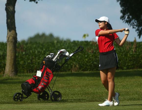 8-8-17<br /> Eastern vs Taylor girls golf<br /> Taylor's 1 Ruth Durham<br /> Kelly Lafferty Gerber   Kokomo Tribune