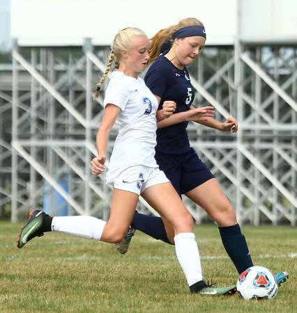 8-16-17<br /> Kokomo vs Oak Hill girls soccer<br /> Kokomo's Maya James scores.<br /> Kelly Lafferty Gerber | Kokomo Tribune