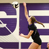 8-29-17<br /> Northwestern vs. Clinton Central volleyball<br /> Jenna Goodspeed spikes the ball.<br /> Kelly Lafferty Gerber | Kokomo Tribune