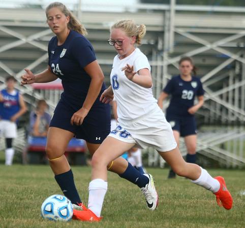 8-16-17<br /> Kokomo vs Oak Hill girls soccer<br /> Kokomo's Colleen Weaver.<br /> Kelly Lafferty Gerber | Kokomo Tribune