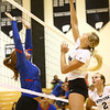 8-15-17<br /> Western vs Kokomo volleyball<br /> Western's Hannah Merica knocks it over the net.<br /> Kelly Lafferty Gerber | Kokomo Tribune