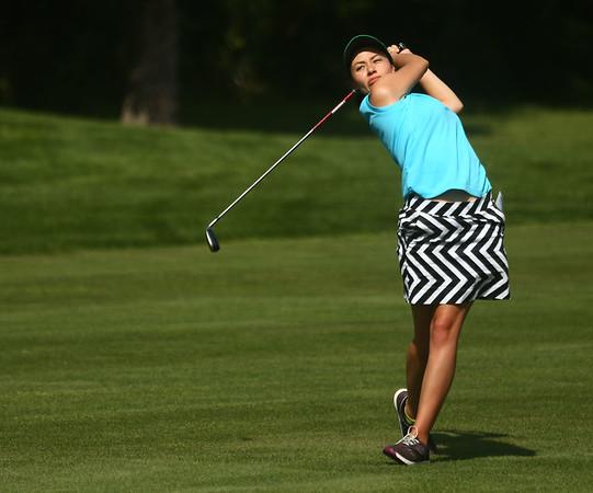 8-8-17<br /> Eastern vs Taylor girls golf<br /> Eastern's 3 Clarissa Vasquez<br /> Kelly Lafferty Gerber | Kokomo Tribune