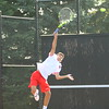 Jon Callane playing tennis at KHS on Aug. 28, 2017. <br /> Tim Bath | Kokomo Tribune