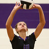 8-29-17<br /> Northwestern vs. Clinton Central volleyball<br /> Kendal Rooze sets the ball.<br /> Kelly Lafferty Gerber | Kokomo Tribune