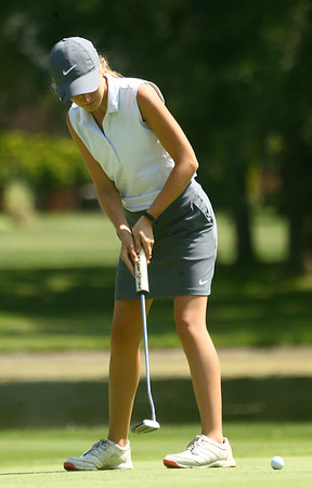 8-12-17<br /> Girls golf invitational<br /> Western 3 Andrea Peterson<br /> Kelly Lafferty Gerber | Kokomo Tribune