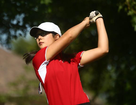 8-8-17<br /> Eastern vs Taylor girls golf<br /> Taylor's 1 Ruth Durham<br /> Kelly Lafferty Gerber | Kokomo Tribune