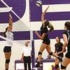 8-29-17<br /> Northwestern vs. Clinton Central volleyball<br /> Madison Layden spikes the ball.<br /> Kelly Lafferty Gerber | Kokomo Tribune