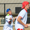 Tennis at KHS on Aug. 28, 2017. Payton McClain and Jackson Richards(not sure of order) playing #1 doubles.<br /> Tim Bath | Kokomo Tribune