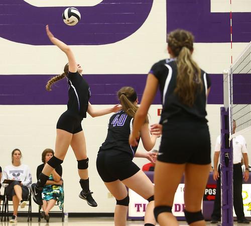 8-29-17<br /> Northwestern vs. Clinton Central volleyball<br /> Jenna Goodspeed spikes.<br /> Kelly Lafferty Gerber   Kokomo Tribune