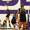 8-29-17<br /> Northwestern vs. Clinton Central volleyball<br /> Jenna Goodspeed spikes.<br /> Kelly Lafferty Gerber | Kokomo Tribune