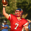 8-18-17<br /> Kokomo vs Hamilton SE football<br /> Kyle Wade throws a pass.<br /> Kelly Lafferty Gerber | Kokomo Tribune