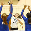 8-15-17<br /> Western vs Kokomo volleyball<br /> Western's Haley Berry spikes the ball.<br /> Kelly Lafferty Gerber | Kokomo Tribune