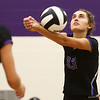 8-29-17<br /> Northwestern vs. Clinton Central volleyball<br /> Madison Layden digs the ball.<br /> Kelly Lafferty Gerber | Kokomo Tribune