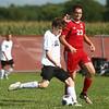 8-17-17<br /> Western vs Kokomo boys soccer<br /> Western's Max Harbaugh and Kokomo's Kyle Burdette.<br /> Kelly Lafferty Gerber | Kokomo Tribune