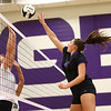 8-29-17<br /> Northwestern vs. Clinton Central volleyball<br /> Kendall Bostic tips the ball over the net.<br /> Kelly Lafferty Gerber | Kokomo Tribune