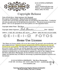 2017 KY Copyright Release Home Use License