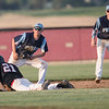 Nicholas Jenkins safely slides in to second base