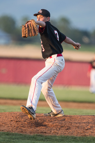 Issac Kisling takes the mound after a pitcher swap by East Rock.