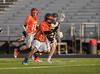 Boys JV High School Lacrosse. Union-Endicott Tigers at Corning Hawks. April 11, 2017.