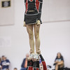 Madison Swisher is hoisted up by her stunt group.