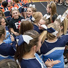 ERHS ' cheerleaders come over and congratulate Page's after both teams find out they will be moving on to the region tourament