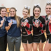 All Region Recpienants, Meghan Pendleton-Second Team, Alicia Campbell-First Team, Savannah Baugher-Second Team, Cara Lasam-Second Team, Grace Rogers-First Team (L-R)