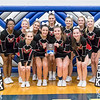 East Rock Cheerleaders pose with their third place plaque
