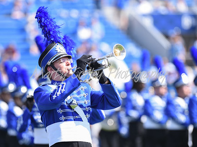 The University of Kentucky Marching Band performs prior to kickoff on Saturday.  MARTY CONLEY/ FOR THE DAILY INDEPENDENT