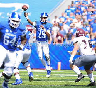 Kentucky quarterback, Stephen Johnson throws a pass on Saturday against Eastern Kentucky in Lexington.  MARTY CONLEY/ FOR THE DAILY INDEPENDENT