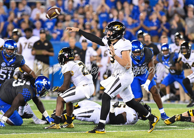 Missouri quarterback, Drew Lock releases a pass on Saturday evening against Kentucky.  MARTY CONLEY/ FOR THE DAILY INDEPENDENT