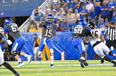 Kentucky quarterback, Stephen Johnson releases a pass on Saturday against Missouri.  MARTY CONLEY/ FOR THE DAILY INDEPENDENT