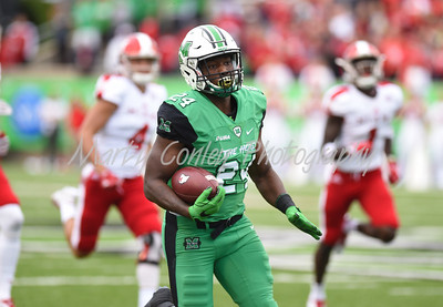 Marshall's Keion Davis takes the opening kickoff to the endzone on Saturday against Miami.  MARTY CONLEY/ FOR THE DAILY INDEPENDENT