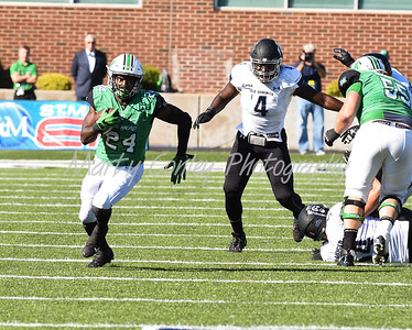 Marshall's Keion Davis has plenty of running room on Saturday against Old Dominion.  MARTY CONLEY/ FOR THE DAILY INDEPENDENT