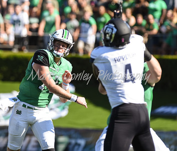 Marshall quarterback, Chase Litton releases a pass on Saturday against Old Dominion.  MARTY CONLEY/ FOR THE DAILY INDEPENDENT