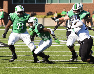 Marshall's Tyler King looks for running room on Saturday against Old Dominion.  MARTY CONLEY/ FOR THE DAILY INDEPENDENT