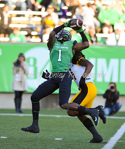Marshall's Willie Johnson makes a catch against Southern Mississippi on Saturday in Huntington.  MARTY CONLEY/ FOR THE DAILY INDEPENDENT