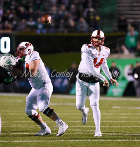 Western Kentucky quarterback, Mike White releases a pass on Saturday against Marshall.  MARTY CONLEY/ FOR THE DAILY INDEPENDENT
