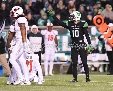 Nick Mathews of Marshall signals for a first down after a reception against Western Kentucky on Saturday.  MARTY CONLEY/ FOR THE DAILY INDEPENDENT