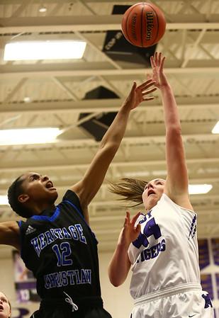 12-14-17<br /> Northwestern vs Heritage Christian girls basketball<br /> Kendall Bostic shoots.<br /> Kelly Lafferty Gerber | Kokomo Tribune