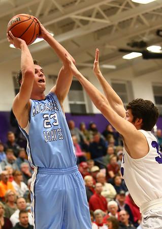 12-15-17<br /> Northwestern vs Maconaquah boys basketball<br /> Mac's Bryce Ward shoots.<br /> Kelly Lafferty Gerber | Kokomo Tribune