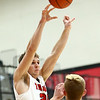 12-12-17<br /> Taylor vs Alexandria-Monroe boys basketball<br /> Colton Kimbler looks for a pass.<br /> Kelly Lafferty Gerber | Kokomo Tribune