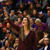 12-14-17<br /> Northwestern girls basketball coaches<br /> Kathie Layden talks to the Northwestern team from the sidelines.<br /> Kelly Lafferty Gerber | Kokomo Tribune