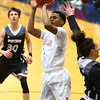 12-5-17<br /> Kokomo vs Western boys basketball<br /> Jayveon White shoots.<br /> Kelly Lafferty Gerber | Kokomo Tribune