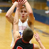 12-16-17<br /> Kokomo vs Huntington North boys basketball<br /> Anthony Barnard makes a shot.<br /> Kelly Lafferty Gerber | Kokomo Tribune